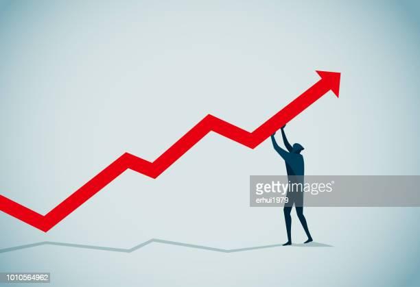 growth - stock market data stock illustrations