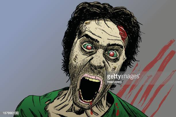 gruesome zombie illustration - judgment day apocalypse stock illustrations, clip art, cartoons, & icons