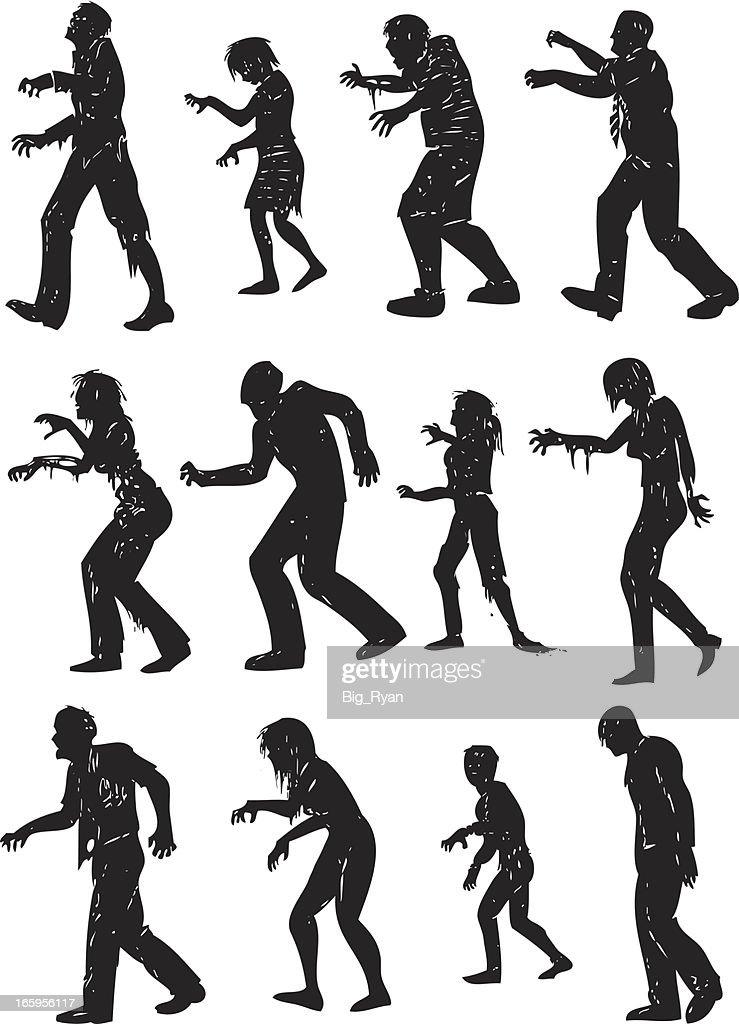 gruesome zombie silhouettes