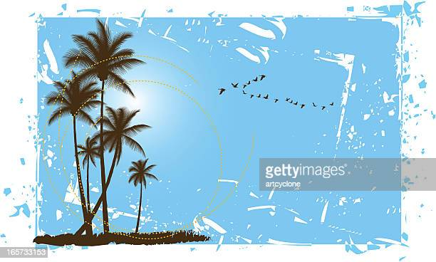 Gruged Palm Scene