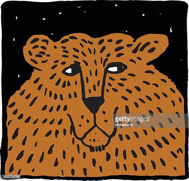 気難しいベア - named animal点のイラスト素材/クリップアート素材/マンガ素材/アイコン素材