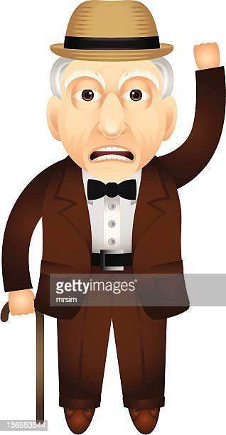 Grumpy Old Man Illustration