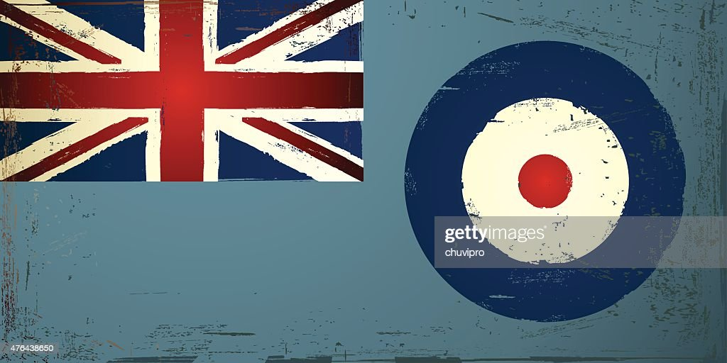 Grunge 1:2 The Royal Air Force Ensign, United Kingdom