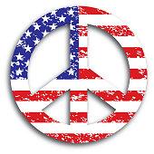 vector illustration grunge textured american flag
