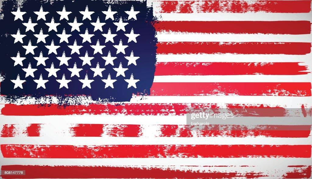 Grunge American flag.