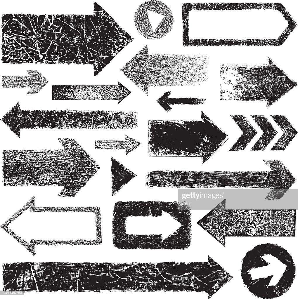 Grunge arrows : stock illustration