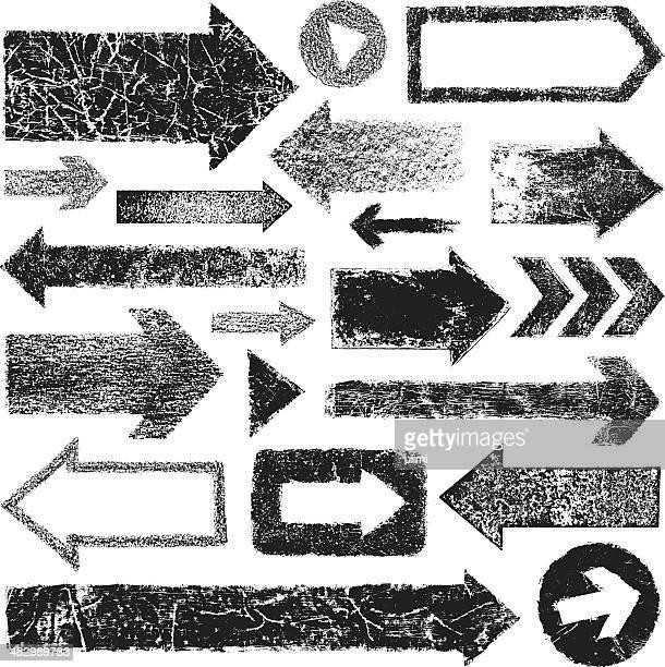 grunge arrows - run down stock illustrations, clip art, cartoons, & icons