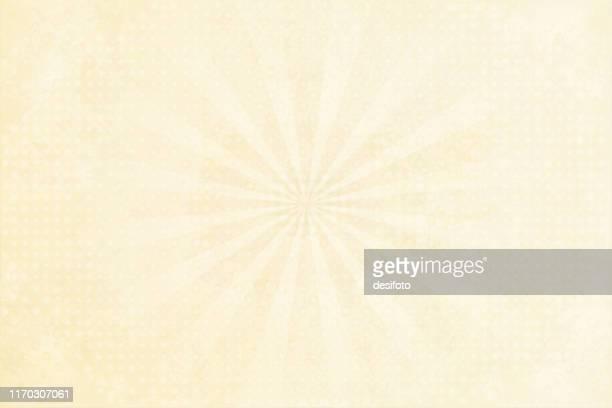 grunge background beige sunburst lens flare half tone stock vector illustration - cream colored stock illustrations