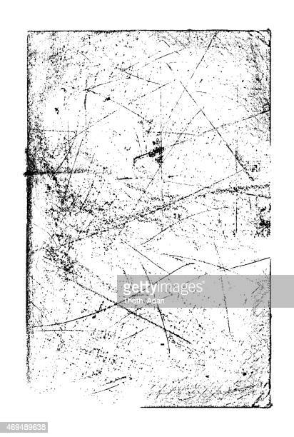 grunge background frame: scratched texture - scratched stock illustrations