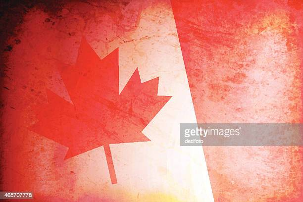 grunge background of canada flag - canadian flag stock illustrations, clip art, cartoons, & icons