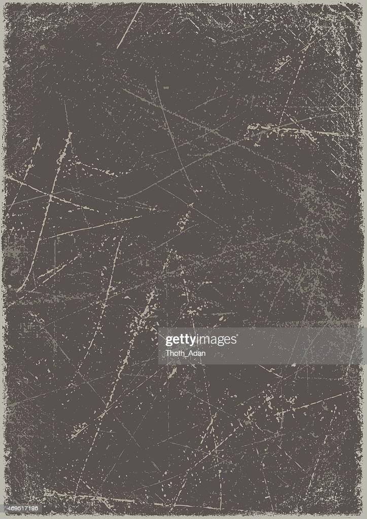 Grunge background: Scratched metal board