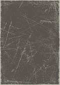 Grunge background: Scratched metal board