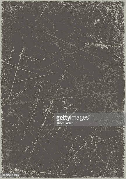 grunge background: scratched metal board - weathered stock illustrations
