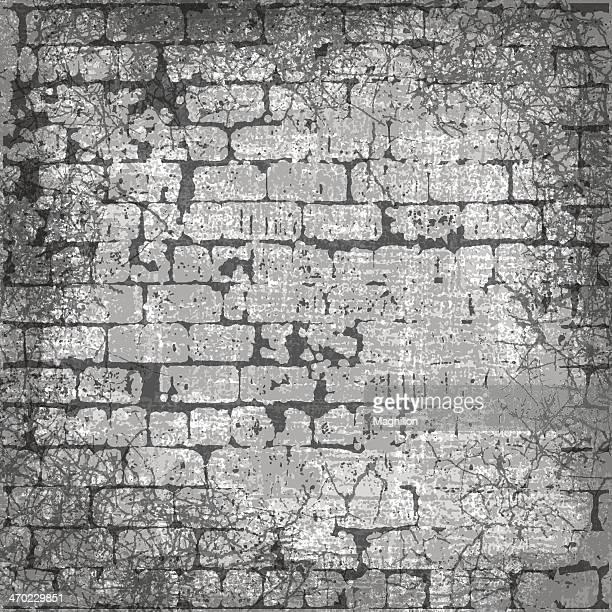 illustrations, cliparts, dessins animés et icônes de fond grunge - mur de briques