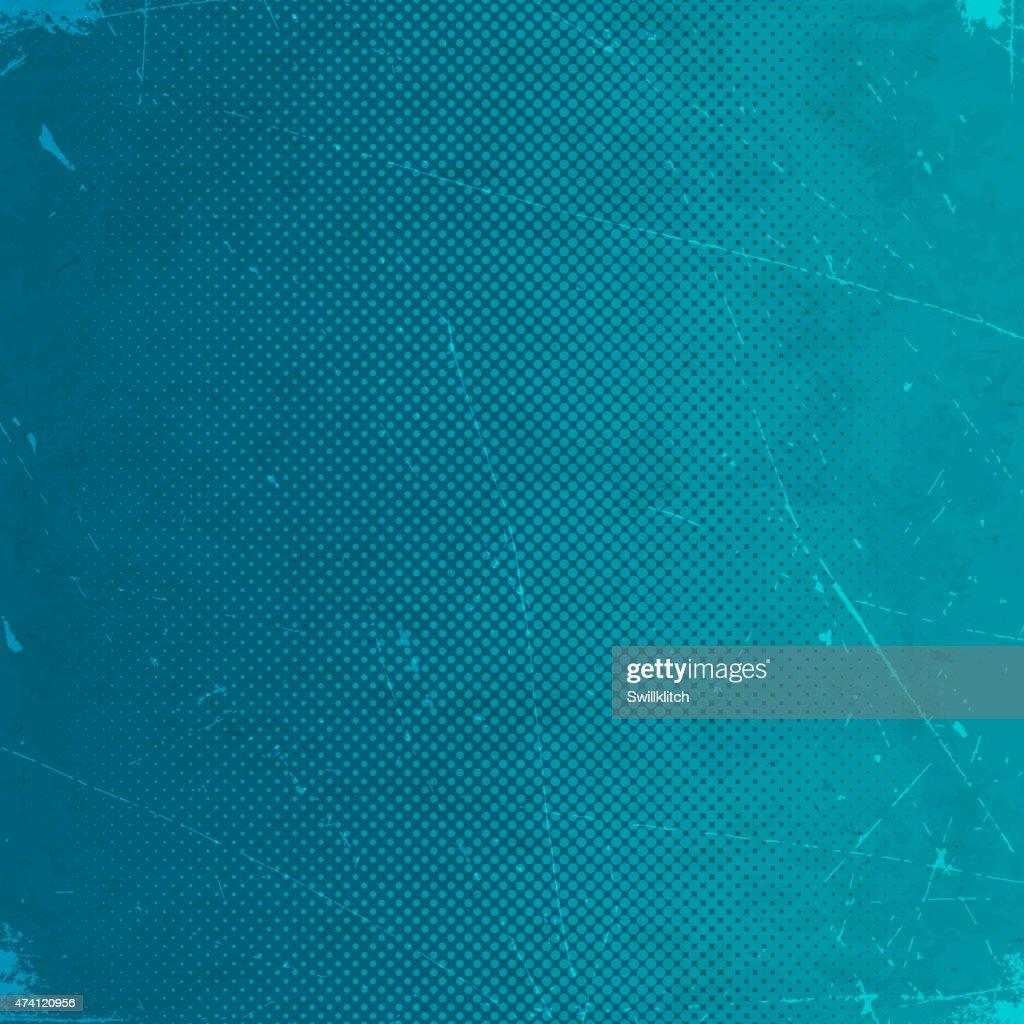 Grunge background with blue halftone gradient