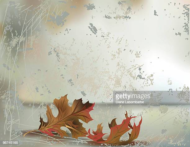 grunge background with oak leaves - high key stock illustrations, clip art, cartoons, & icons
