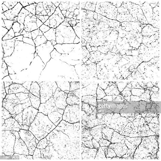 grunge backgrounds - cracked stock illustrations