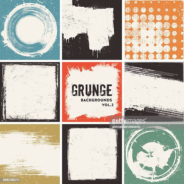 grunge backgrounds - grunge image technique stock illustrations