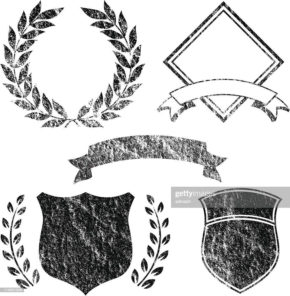 Grunge Banner and Logo Elements