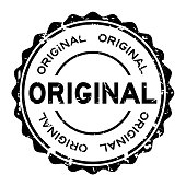 Grunge black original word round rubber seal business stamp on white background