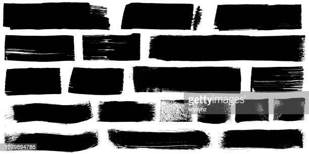 grunge schwarz farbe marker striche vektor - pinsel stock-grafiken, -clipart, -cartoons und -symbole