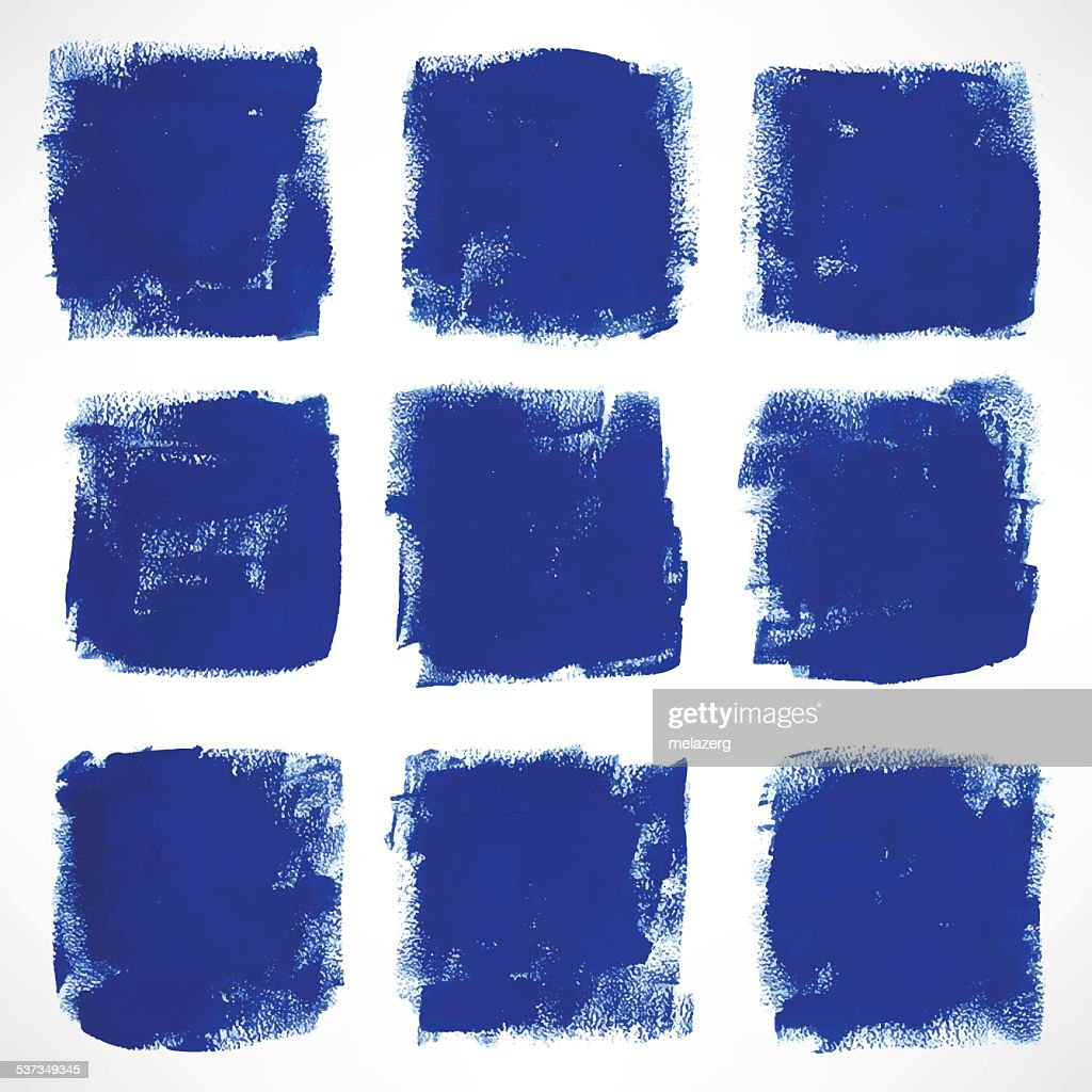 grunge blue squares