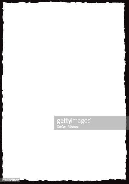 ilustrações, clipart, desenhos animados e ícones de moldura grunge fronteira - moldura preta