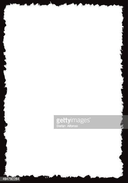 グランジの境界線フレーム - 黒枠点のイラスト素材/クリップアート素材/マンガ素材/アイコン素材