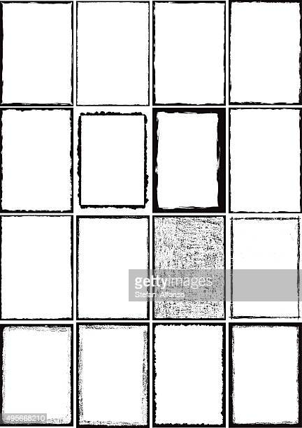 grunge border frames - rough stock illustrations