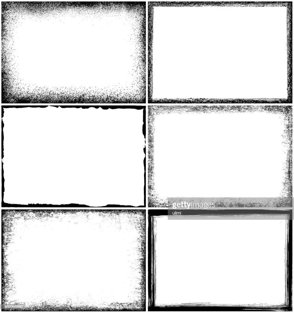 Grunge border frames : stock illustration