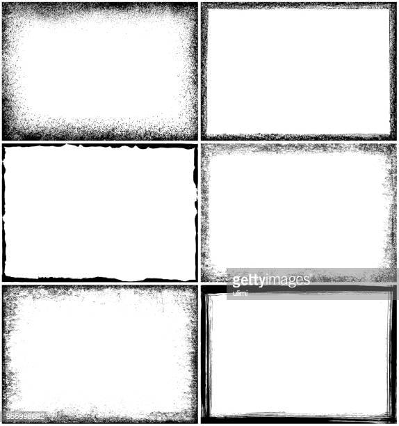grunge border frames - vertical stock illustrations
