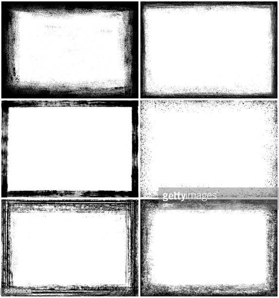 grunge border frames - faded stock illustrations, clip art, cartoons, & icons