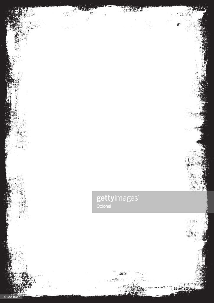 Grunge Border (vector & XXL JPG) : stock illustration