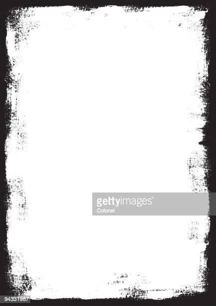 grunge border (vector & xxl jpg) - photograph stock illustrations