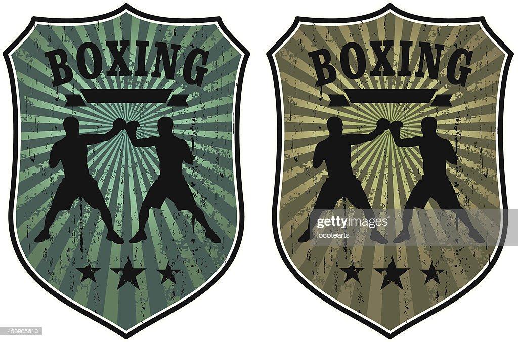 grunge boxing shields