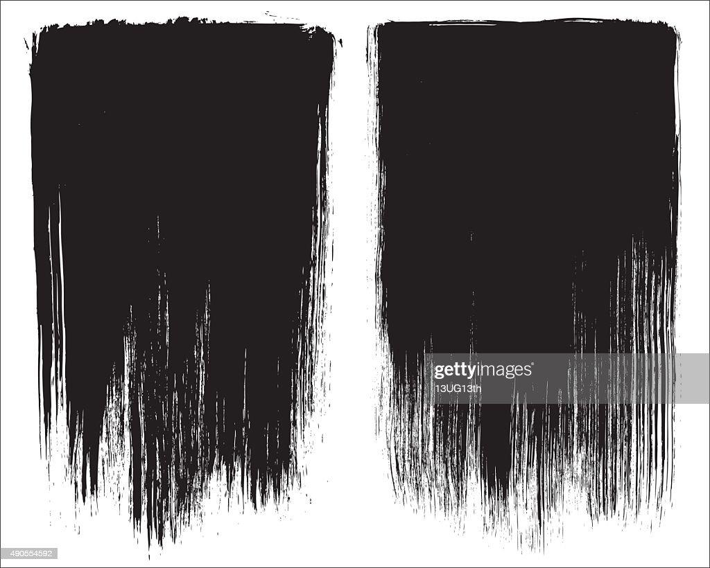 Grunge brush stroke background frames