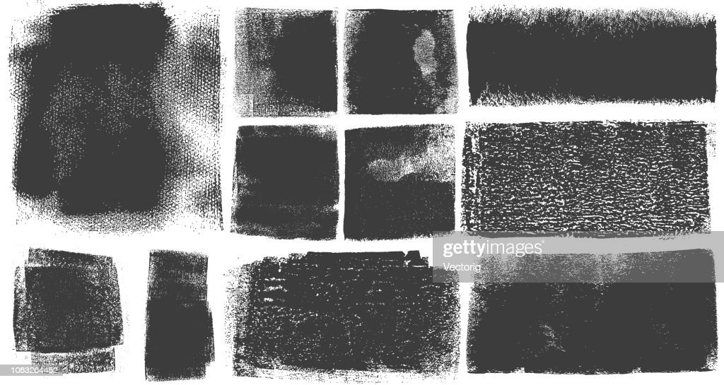Grunge Brush Stroke Paint Boxes Backgrounds : stock illustration