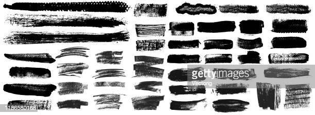 grunge pinsel strich paint boxen hintergründe - unordentlich stock-grafiken, -clipart, -cartoons und -symbole