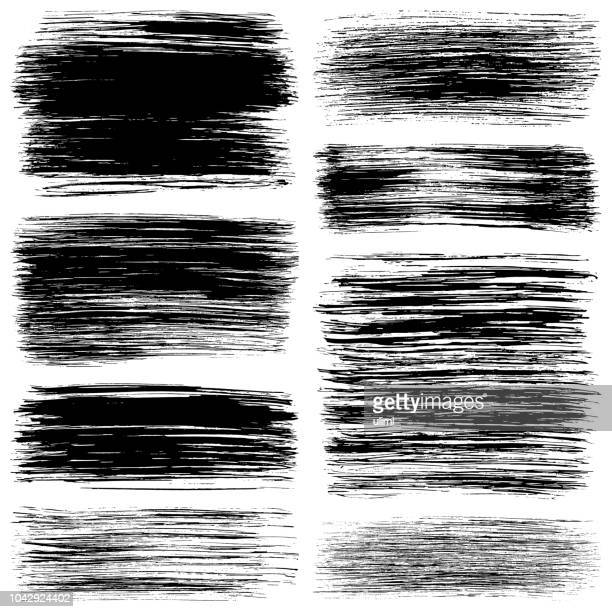 grunge brush strokes. paint backgrounds - wood stain stock illustrations, clip art, cartoons, & icons