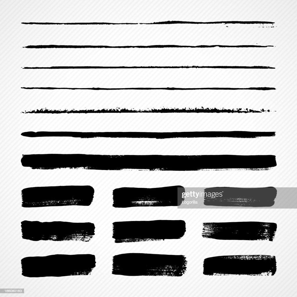 Pennellate Grunge : Illustrazione stock