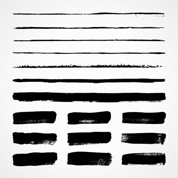 grunge brush strokes - pencil drawing stock illustrations