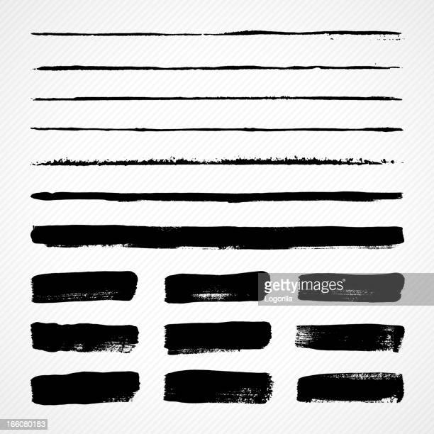 grunge brush strokes - line stock illustrations