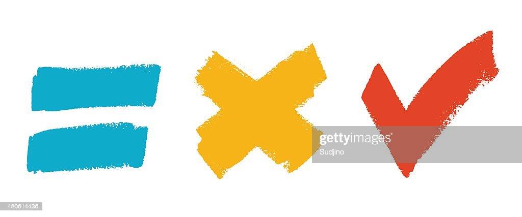 Grunge brush symbol set