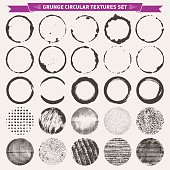 Grunge Circular Texture Backgrounds Frames 2 Vector