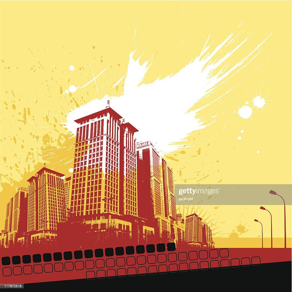 Grunge City (vector)
