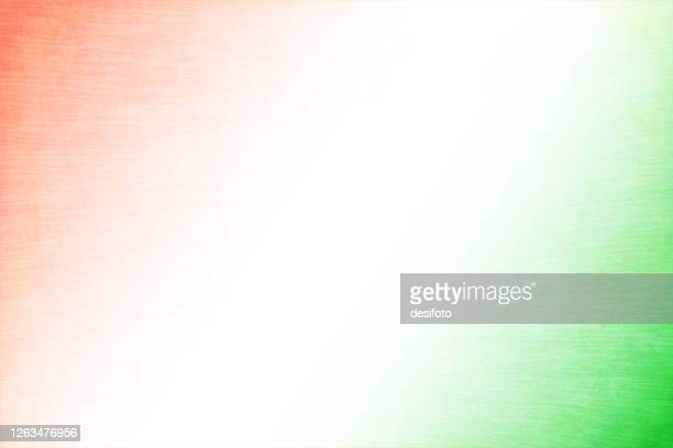 grunge crepe paper textured vector tricolour faded background with a diagonal white band with a little saffron and green colour at the corners - indian flag stock illustrations