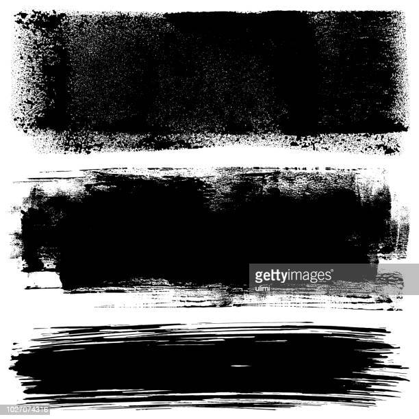 grunge design elements. paint roller and brush strokes - tracing stock illustrations