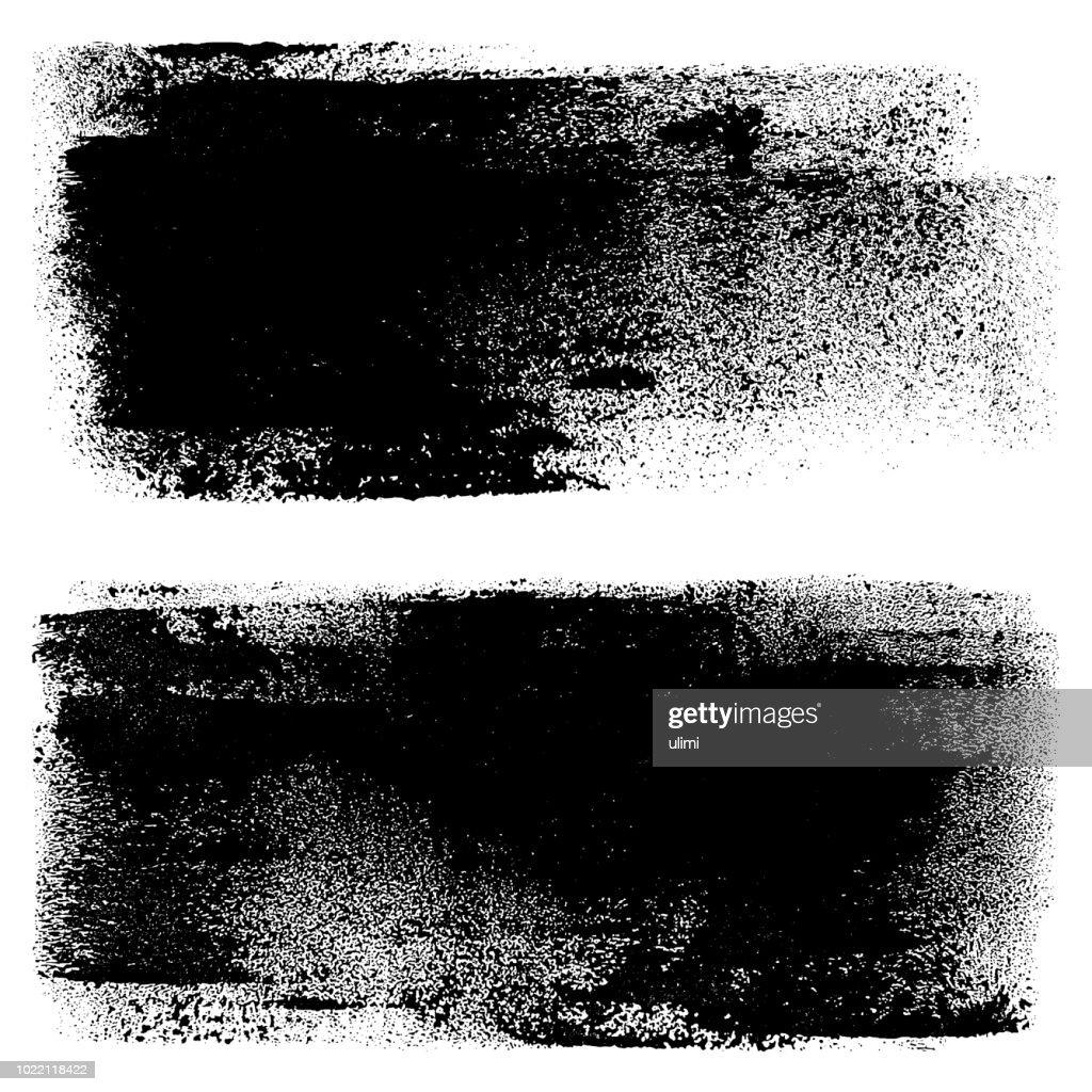Grunge design elements. Paint roller strokes : stock illustration