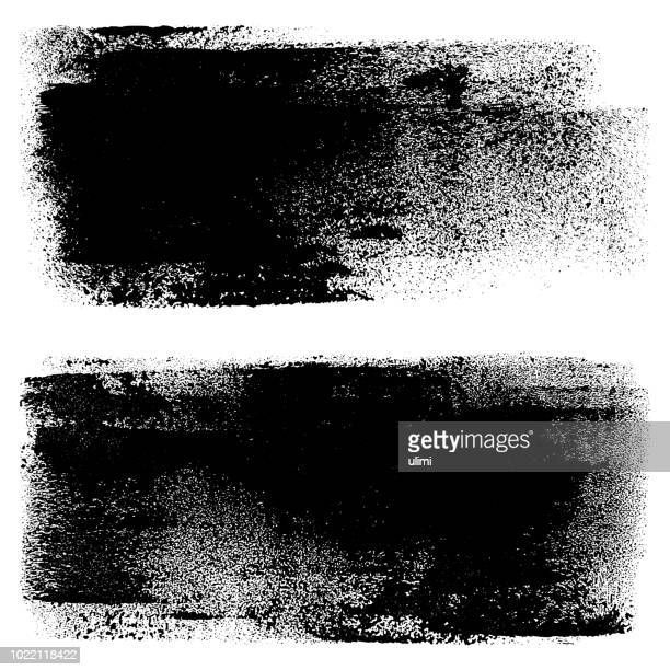 grunge design elements. paint roller strokes - half tone stock illustrations