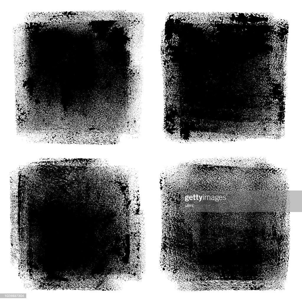 Grunge-Design-Elemente. Walze Pinselstriche : Stock-Illustration